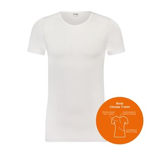 Body Climate T-shirt met ronde hals Wit