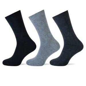 Teckel 3-Pack heren sokken Antraciet